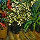 on my verandah 90cmx70cm acrylics and pastels on pasteboard by glennbrady