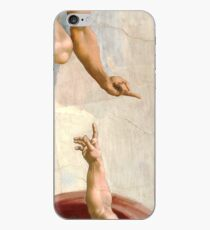 Michelangelo - Creation of Atheist Adam - Close Up - Looking Down on God iPhone Case
