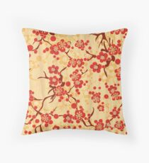 Japanese blossom art vector illustration Throw Pillow