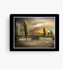 Carpark Green with Envy Canvas Print