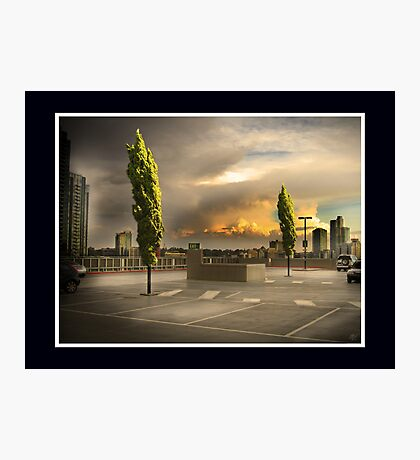 Carpark Green with Envy Photographic Print