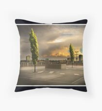 Carpark Green with Envy Throw Pillow