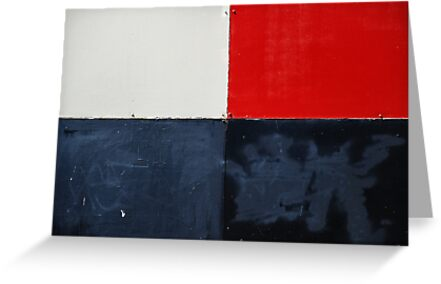 red, white and black by Janet Leadbeater