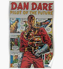 ' Dan Dare' retro comic book art Poster