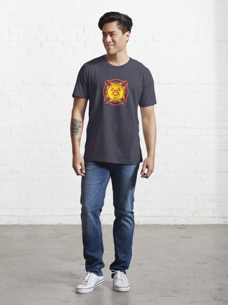 Alternate view of Fire Department 451 Essential T-Shirt