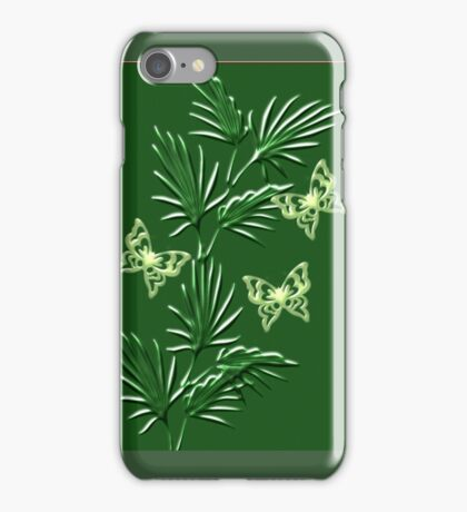 A leaf with butterfly   (5272  Views) iPhone Case/Skin