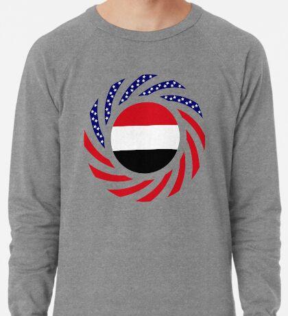 Yemeni American Multinational Patriot Flag Series Lightweight Sweatshirt