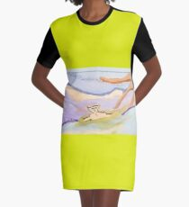 swimming in the id Graphic T-Shirt Dress