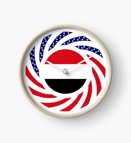 Yemeni American Multinational Patriot Flag Series Clock