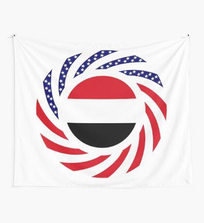 Yemeni American Multinational Patriot Flag Series Wall Tapestry