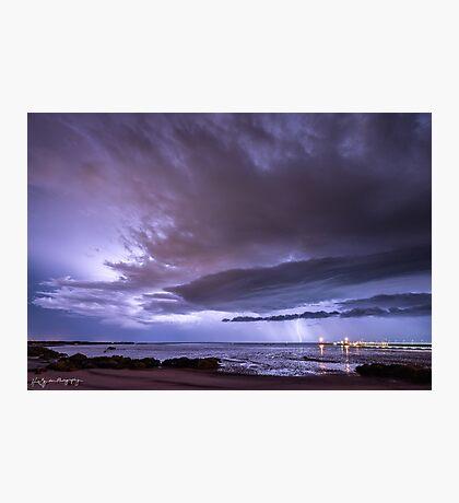 Broome Port Lightning Strike Photographic Print