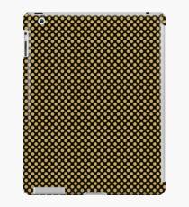 Black and Spicy Mustard Polka Dots iPad Case/Skin