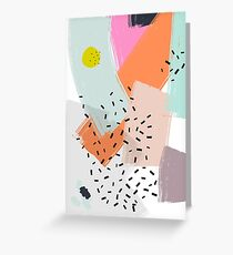 Snigger // Abstract Pattern Bright Greeting Card