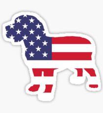 Dog Beagle American  Sticker