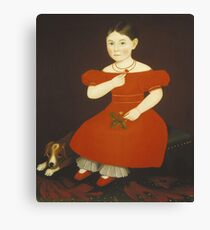 Ammi Phillips - Girl In A Red Dress Canvas Print