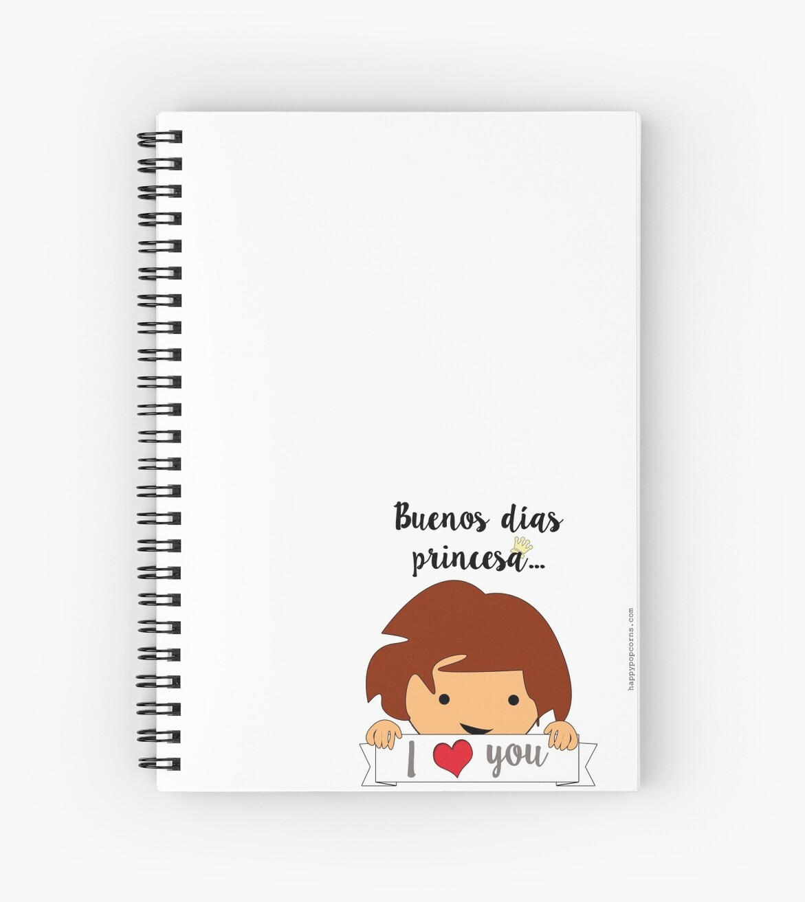 Good Morning Princess Spiral Notebooks By Happypopcorns Redbubble