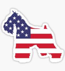 Dog Miniature Schnauzer American Sticker