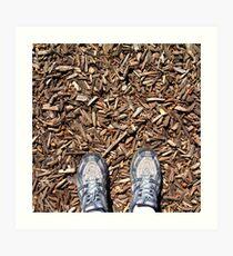 mulch feet Art Print