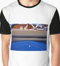 Close up of convertible blue vintage car Graphic T-Shirt