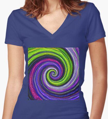 Source #DeepDream #Art Fitted V-Neck T-Shirt