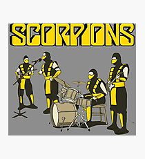 SCORPIONS - MORTAL KOMBAT ROCK BAND Photographic Print