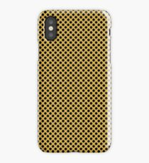 Spicy Mustard and Black Polka Dots iPhone Case/Skin