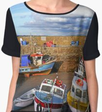 The Lilliput Harbour, Fethard on Sea, Co. Wexford, Ireland Women's Chiffon Top