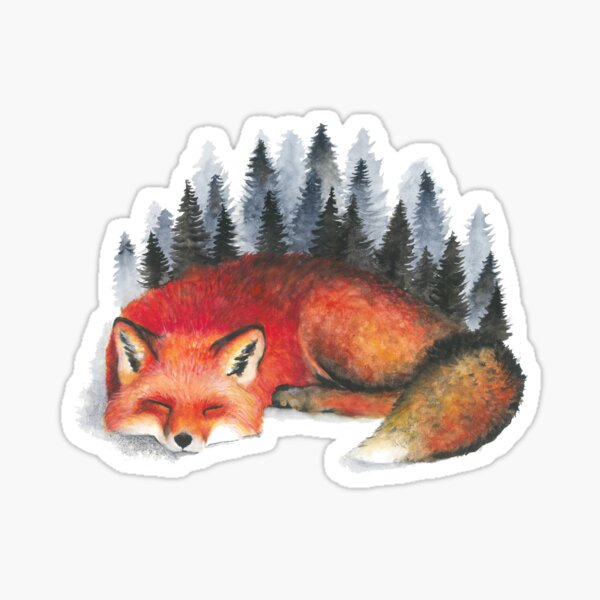 Sleeping Fox Sticker