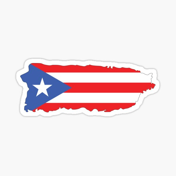 Puerto Rico Colors Sticker