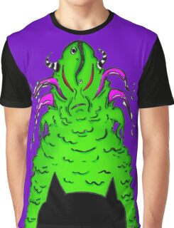 Cat Monster Face-Off Graphic T-Shirt