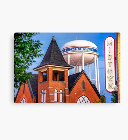 Midtown Neon on the Bentonville Arkansas Square Canvas Print