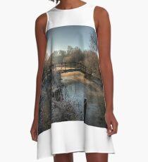 Bridge on the River Itchen A-Line Dress