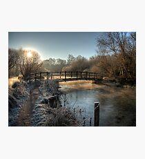 Bridge on the River Itchen Photographic Print