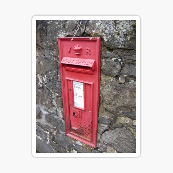Royal Mail: Traditional, Red, Wall mounted British Post Box Sticker