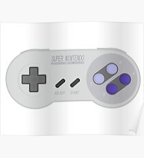 SNES Controller Side Poster