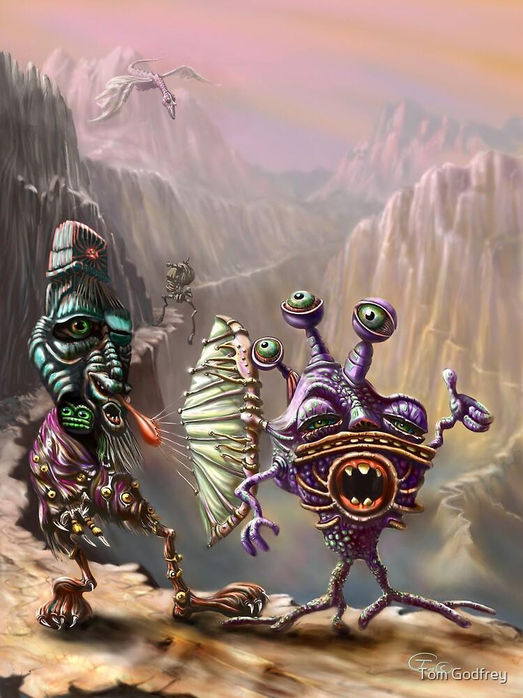 Three Friends cross the Atlip desert by Tom Godfrey