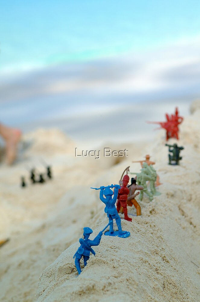 Beach Army 01 by Lucy Best