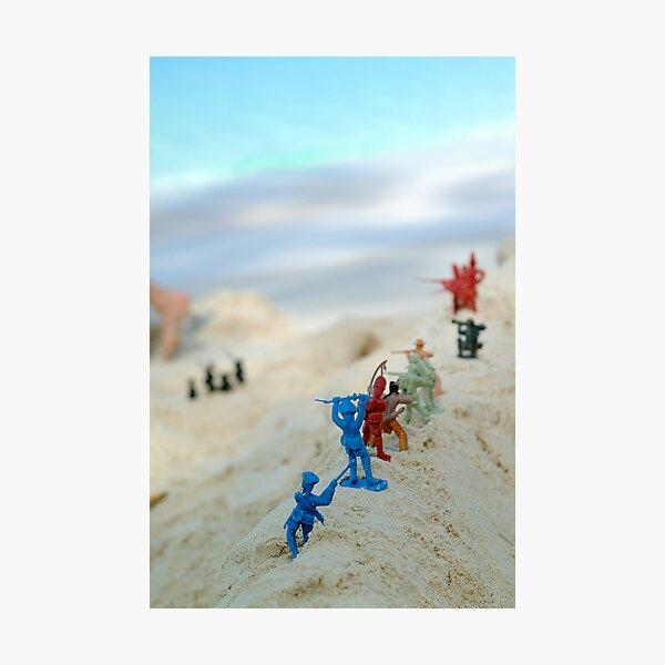 Beach Army 01 Photographic Print