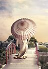 Girl with Parasol by Linda Lees