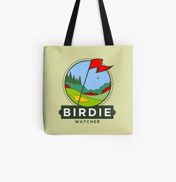 Birdie Watcher All Over Print Tote Bag