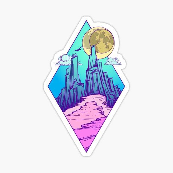 Mountain peak Sticker