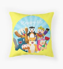 Stampy Cat and His Friends Throw Pillow