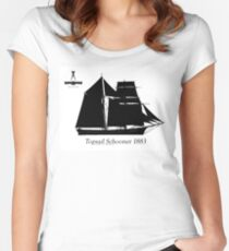 Topsail Schooner 1883 by Tony Fernandes Women's Fitted Scoop T-Shirt
