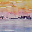 Bay Area Skyline of San Francisco California by artshop77