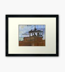 Tug and Dartmouth Castle Framed Print