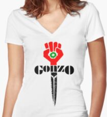 Gonzo Is Off The Wall - ONE:Print Women's Fitted V-Neck T-Shirt
