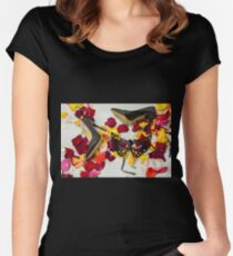 After masquerade - shoes, mask and rose petals Women's Fitted Scoop T-Shirt