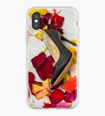 After masquerade - shoes, mask and rose petals iPhone Case