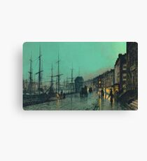 Atkinson Grimshaw - Shipping On The Clyde Canvas Print