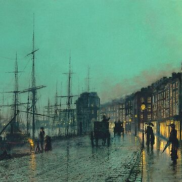 Atkinson Grimshaw - Shipping On The Clyde by artcenter